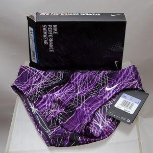 New Nike Swim Brief Epic Lights Purple Size 26